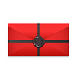closed envelope sealing wax vector image