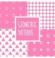 geometric pink seamless patterns set Baby vector image