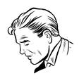 Man businessman online art vector image