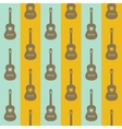 seamless vintage background with guitars vector image