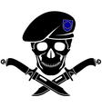sign of special forces of EU vector image vector image