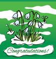 spring snowdrops hand drawn vector image