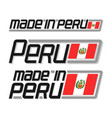 made in peru vector image
