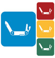 camping knife icon vector image