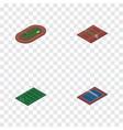 isometric training set of tennis american vector image