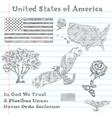 principal symbols of USA vector image