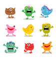 friendly little monsters set 2 vector image