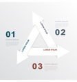 paper arrows infographic vector image