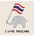 Elephant hold Thai flag3 vector image