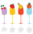 glasses and fruit color vector image