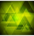 Bright tech triangles background vector image vector image