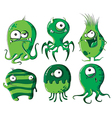 Cartoon microbes and bacteria vector image