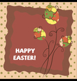 warm easter greeting card vector image