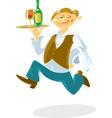 Running waiter vector image vector image