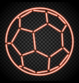 a soccer ball made of illuminated shapes sport vector image