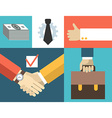 Business people concept in flat design styl vector image