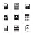 Calculators icons set vector image