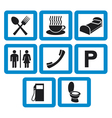 hotel icons set - hotel signs vector image