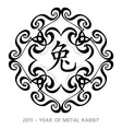 rabbit year symbol vector image