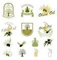 Set of the olive oil labels and badges isolated on vector image