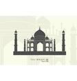 Taj Mahal in India vector image