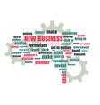 Pnew business wordcloud vector image