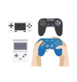 Video game icons set collection of gaming devices vector