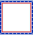 frame the background in the style of the american vector image