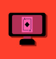 flat icon design collection ace of diamonds vector image vector image