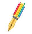 Pen with arrow vector image