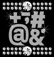vector set of diamond letters and numbers big and vector image vector image