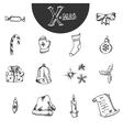 doodle christmas element vector image