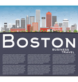 Boston Skyline with Buildings Blue Sky vector image