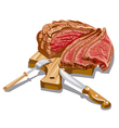 sliced ham vector image vector image