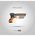 Gun for virtual reality system Game weapons vector image