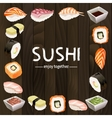 Sushi background design vector image