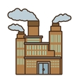 cartoon manufacture building pollution chimney vector image