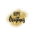Happy Christmas Hand drawn lettering on light vector image