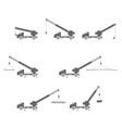 lifting auto crane vector image