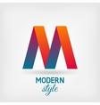 M letter design vector image