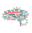 Pnew business wordcloud vector image