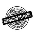 recorded delivery rubber stamp vector image