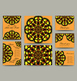 set of invitation card templates vector image