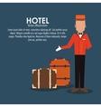 bellboy baggage hotel service icon vector image
