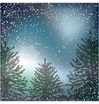 Night Christmas background with whirling snow and vector image vector image