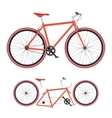 Bicycle parts poster quality vector image
