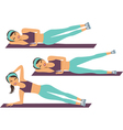 workout training vector image vector image