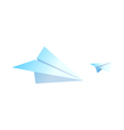 icon paper airplane vector image