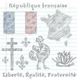 symbols of France vector image