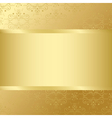 golden card with golden texture and center vector image vector image